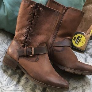 Awesome Sofft brown leather boots size 7.5